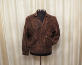 Vintage Men's Tan and Brown Soft Genuine Leather Jacket Motor Bike Torino Leather