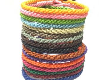 Fair Trade Handcrafted Cotton Blessed Thai Buddhist Wristband Bracelet Wristwear