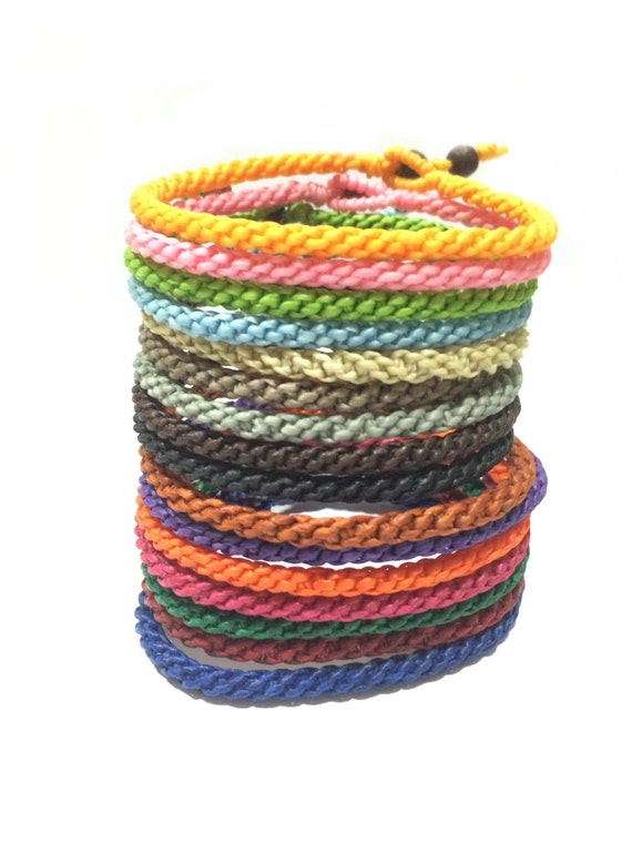Fair Trade Handcrafted Cotton Blessed Thai Buddhist Wristband Bracelet Wristwear