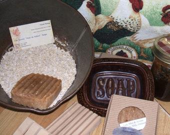 Buckwheat Honey, Milk and Oatmeal Eco Soap