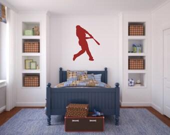 Baseball Wall Decal Etsy - Vinyl wall decals baseball