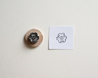 Sacred Geometry No. 6 - Hand Carved Rubber Stamp