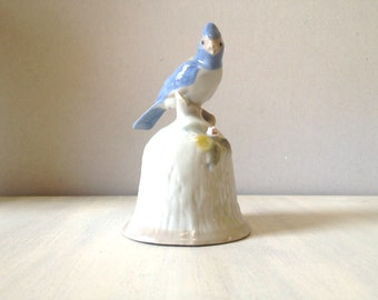 Vintage china bell, porcelain bell, collectible bell, vintage bell, vintage china bird, vintage bird figurine, porcelain statue, small bell
