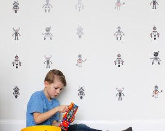 Vinyl Wall Sticker Decal Art - Robots