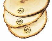 Rustic Wood Tree Slice Centerpieces, Trivets, Hot plates, Chargers -plain - 10 - 13 inch diameter