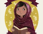 Malala Yousafzai Print - Female Role Models Series - Women of History