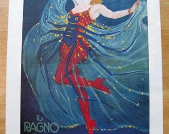 Il Ragno Azzurro (The Blue Spider) poster -- 11x14