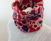 Gaiters / Fleece Neck Warmer / Half Face Mask / Chunky Scarf / Cowl Scarf / Red Neckwarmer / Winter Scarves for Women/  Fleece Scarves