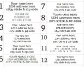 Clear Address Labels - return address labels on clear gloss stickers- 1/2 x 1 3/4 - home address or business address stickers