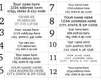 160 Address Labels - return address stickers- 1/2 x 1 3/4 - home address or business address stickers