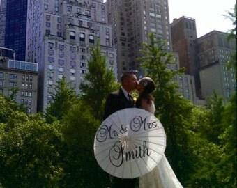 Wedding Parasol, Thank You, Mr. & Mrs.