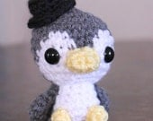 Amigurumi Penguin Doll - Kawaii Baby Penguin - Cute gift - Penguin toy - Nursery Decor - Hipster Penguin Chick - Crocheted Doll