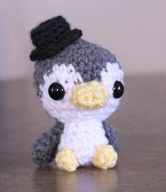 Kawaii Potato Amigurumi : Amigurumi Penguin Doll Kawaii Baby Penguin Cute gift by ...
