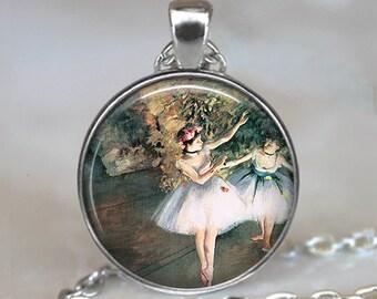 Degas Ballerinas pendant, ballerina jewelry, ballet teacher's gift, Degas ballet pendant ballet jewelry ballet gift keychain