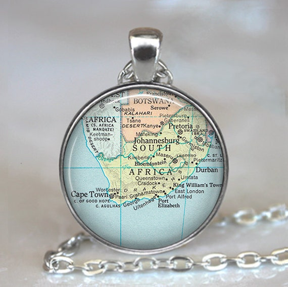 south africa map necklace