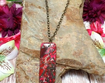 Pink Sea Sediment Jasper Necklace
