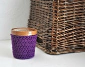 Purple Ice Cream Cozy Crocheted Holder Pint Size Eco Friendly Reusable Cover Get Well Gift Friend Gift Easy Hold