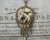 Assemblage Necklace-Bonnie & Clyde