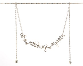 Aho Mitakuye Oyasin Necklace - Native American Blessing - Prayer Necklace - Spiritual Jewelry