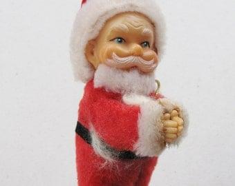 Vintage Clip on Santa Claus Rare Holiday Decoration