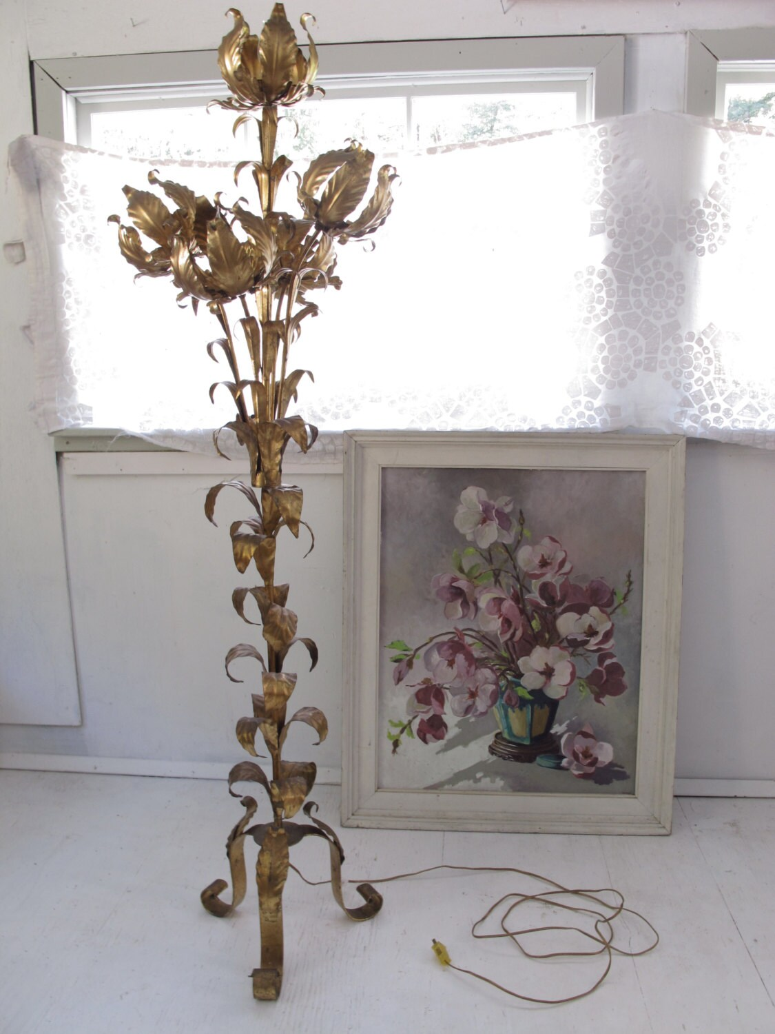 Reserve 4 Joe Metal Flower Floor Lamp Italian Hollywood
