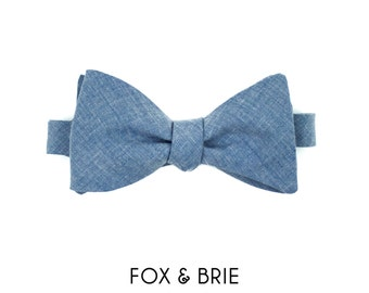 Denim Chambray Bow Tie
