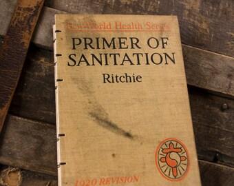 1920 SANITATION Vintage Notebook Journal