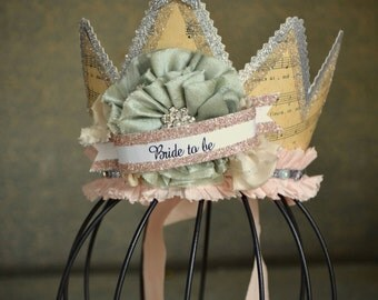 Shabby chic tiara crown wedding, brides, showers