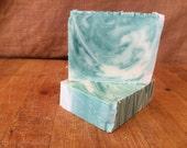 Eucalyptus Spearmint Artisan Bar Soap (with sunflower oil)