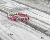 Pink And Purple Hemp Bracelet