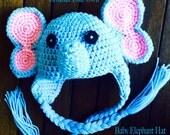 CROCHET PATTERN - Baby Elephant Hat - Crochet Pattern 0 to 12