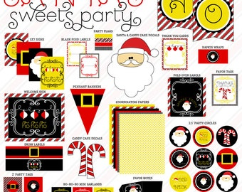Santa PRINTABLE Party (INSTANT DOWNLOAD) by Love The Day
