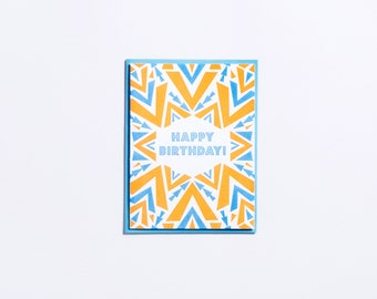 "Party | ""Happy Birthday!"" Letterpress Birthday Card"