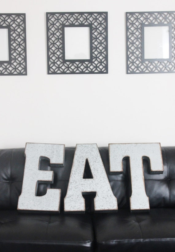 Large Zinc Letters Sale Eat Metal Letters Large Zinc Steel Initial Home Room