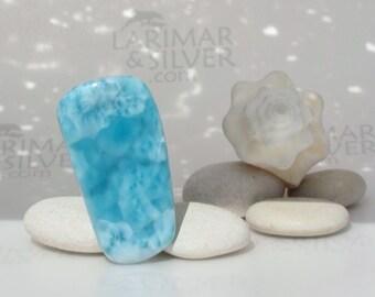 Larimar slab from Larimarandsilver, Blue Coral 2 - organic turquoise Larimar stone, Reiki, healing, blue pectolite, stefilia stone 133.5 ct.