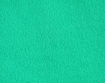 Faux Suede, Knit Back Fabric, Light Aqua Green, Medium Weight Polyester, half yard, B3