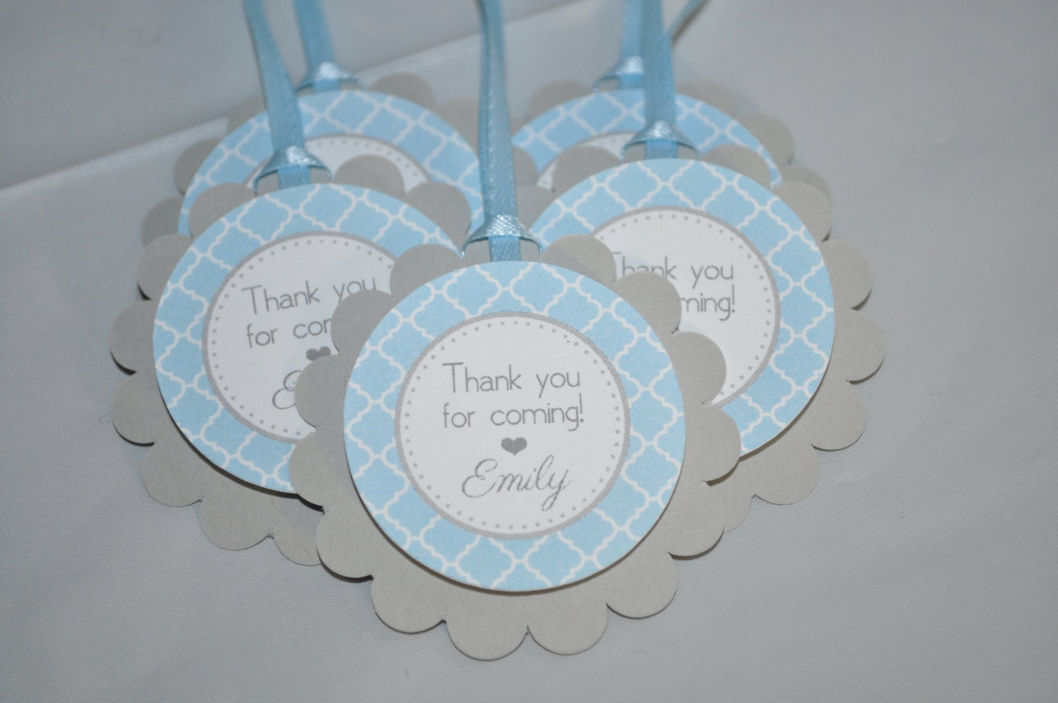 Boys baby shower favor tags it 39 s a boy favors blue and - Baby shower favor tags ...