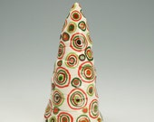 Hand Made Christmas Tree, Table Top Ceramic Christmas Tree, Decorative Christmas Tree, Primitive Christmas Tree, Natural Christmas Decor
