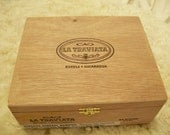 Wooden Cigar Box - Empty - For Crafting - La Traviata - with clasp and hinges