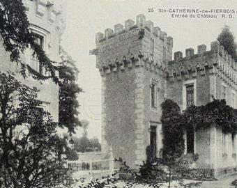 Unused French Postcard - Chateau Entrance, Ste-Catherine-de-Fierbois, Indre-et-Loire, France