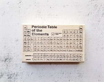 The Periodic Table of Elements Stamp - Teacher's Chemistry Chart Rubber Stamp - Organic Chemistry Stationary Stamp