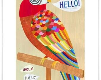 Hello Parrot // Giclee Art Print