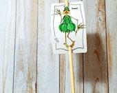 Jardin signe basilic herbe métal sur bambou jeu UV protégé contre la décoloration 2 x 3 signe maxi jeu personnalisable