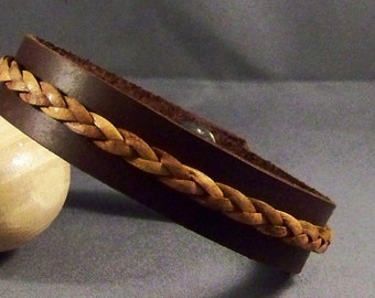 Leather Bracelet, Womens Bracelet, Leather Wristband, Brown Leather Bracelet, Bangle, Womens Wrist Bracelet, Friendship Bracelet, Gifts Cuff