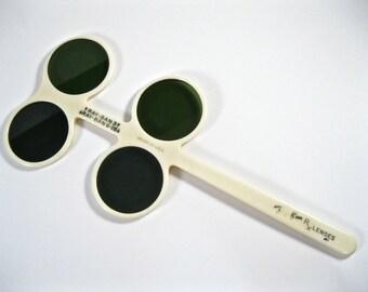 rare RAY-BAN lens demonstrator. Rx lens 3 and G-15 green tinted lenses. rayban memorabilia.