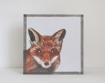 woodland nursery art- red fox art print- forest animals- nursery woodland art- animal print- nursery forest - fox decor- redtilestudio