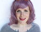 Pastel wig. purple wig. lavender purple wig. short / medium wig for summer - lilac petal