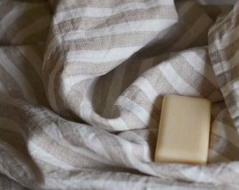 Striped Linen Towel Gift Linen Bath Towel Natural Linen Towel Body Towel Eco Firendly Linen Towel 39  x 55 inches