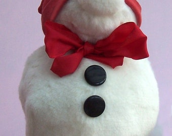 Mr Snow,  soft toy snowman sewing pattern (download)