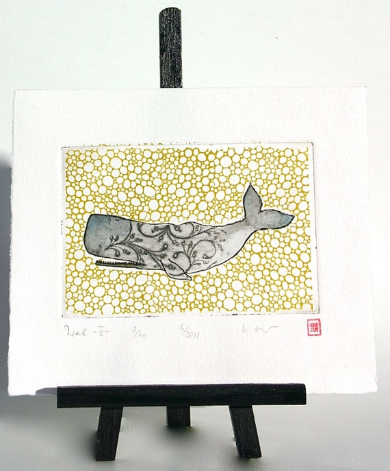 Whale - Original Etching
